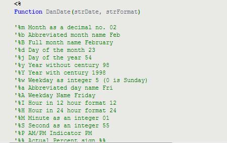一個Function搞定 ASP 日期時間格式轉換